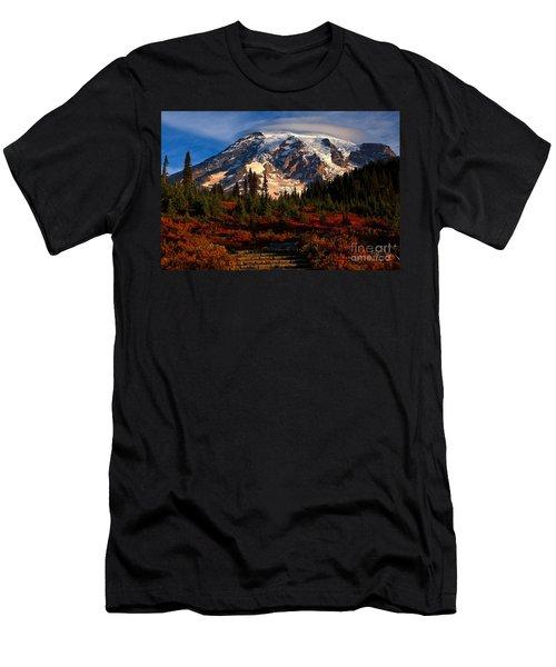 Mt. Rainier Paradise Morning Men's T-Shirt (Athletic Fit)