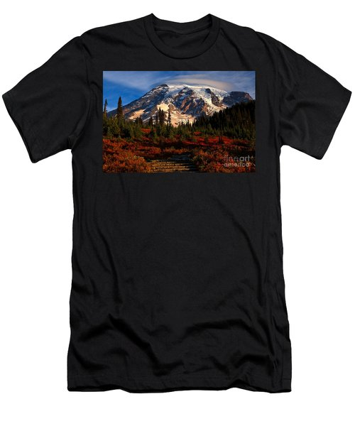 Mt. Rainier Paradise Morning Men's T-Shirt (Athletic Fit)