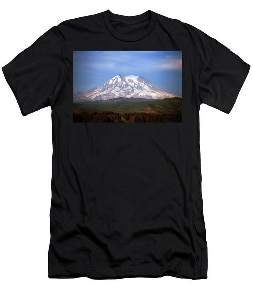 Men's T-Shirt (Slim Fit) featuring the photograph Mt. Rainier by Sumoflam Photography