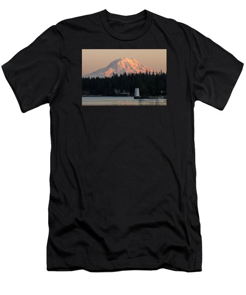 Mt. Rainier Sunset Glow Men's T-Shirt (Athletic Fit)