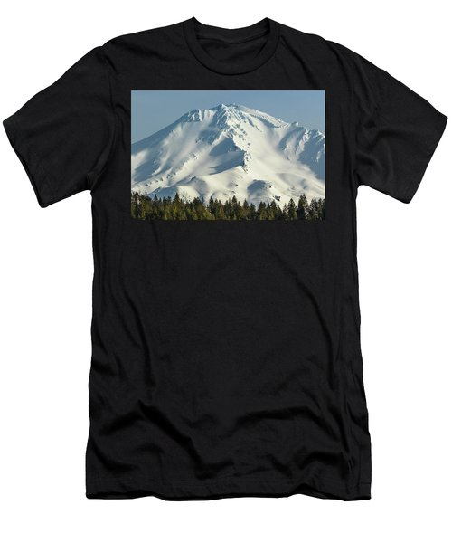 Mt Shasta In Early Morning Light Men's T-Shirt (Athletic Fit)