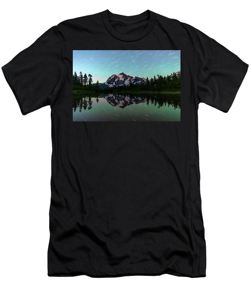 Mt Shuksan And Star Trails Men's T-Shirt (Athletic Fit)