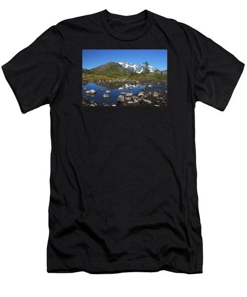 Mt. Shuksan Puddle Reflection Men's T-Shirt (Athletic Fit)