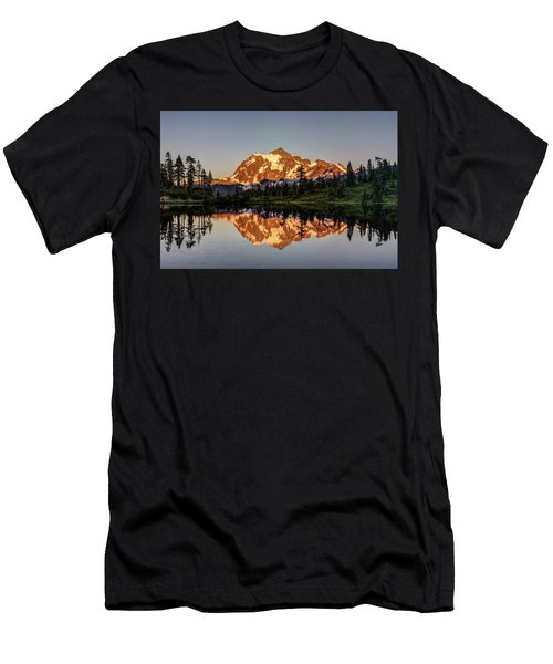 Mt Shuksan Reflection Men's T-Shirt (Slim Fit) by Pierre Leclerc Photography