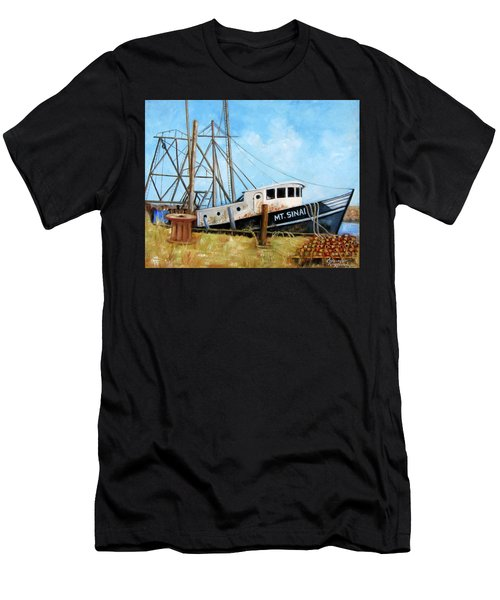 Mt. Sinai Fishing Boat Men's T-Shirt (Athletic Fit)