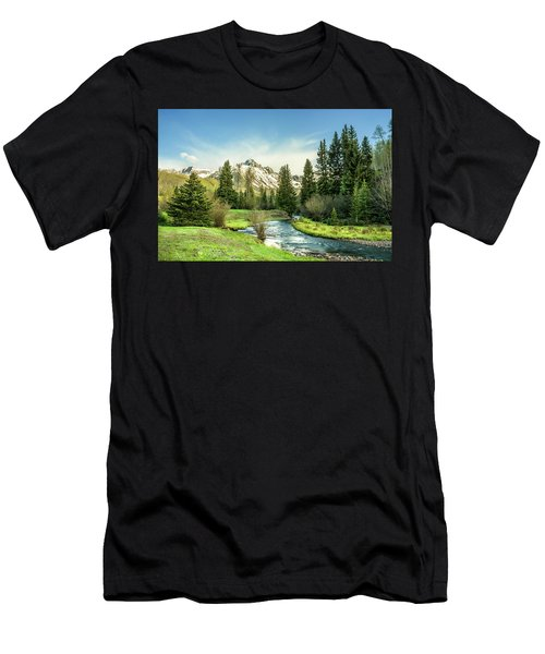 Men's T-Shirt (Athletic Fit) featuring the photograph Mt. Sneffels Peak by Angela Moyer
