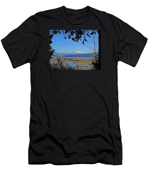 Mt St Helens Men's T-Shirt (Slim Fit) by Jack Moskovita