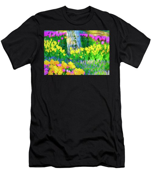 Mt Vernon Tulip Garden 1 Men's T-Shirt (Athletic Fit)