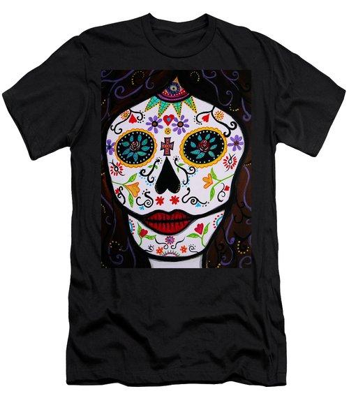Men's T-Shirt (Slim Fit) featuring the painting Muertos by Pristine Cartera Turkus