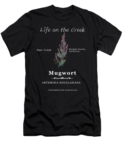 Mugwort - White Text Men's T-Shirt (Athletic Fit)