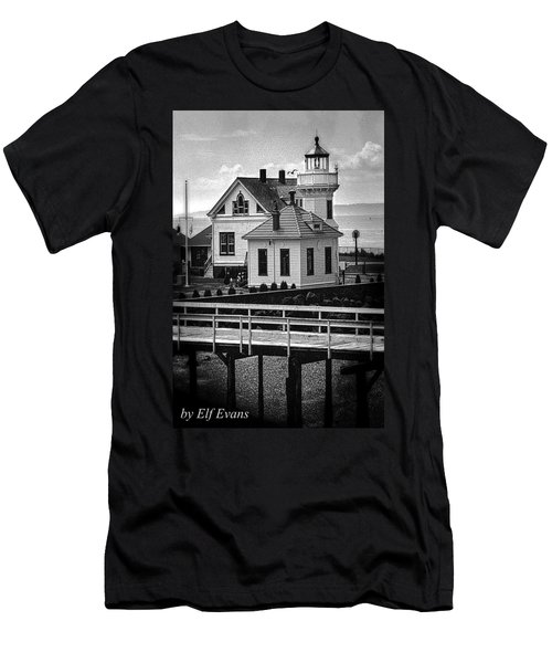 Men's T-Shirt (Athletic Fit) featuring the photograph Mukilteo Lighthouse by Elf Evans