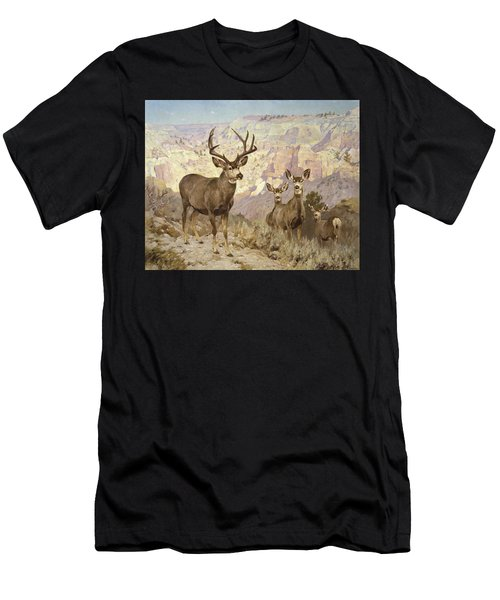 Mule Deer In The Badlands, Dawson County, Montana Men's T-Shirt (Athletic Fit)