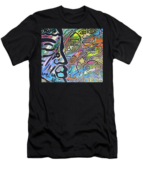 Multi-dimensional Beings Stepping Out The Body Walking Through The Cosmos Men's T-Shirt (Athletic Fit)