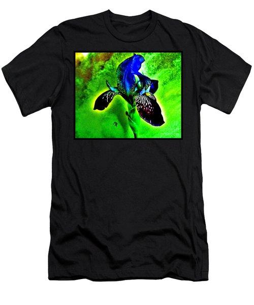 Men's T-Shirt (Slim Fit) featuring the photograph Multicolor Iris by Marsha Heiken