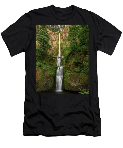 Men's T-Shirt (Athletic Fit) featuring the photograph Multnomah Falls by John Hight