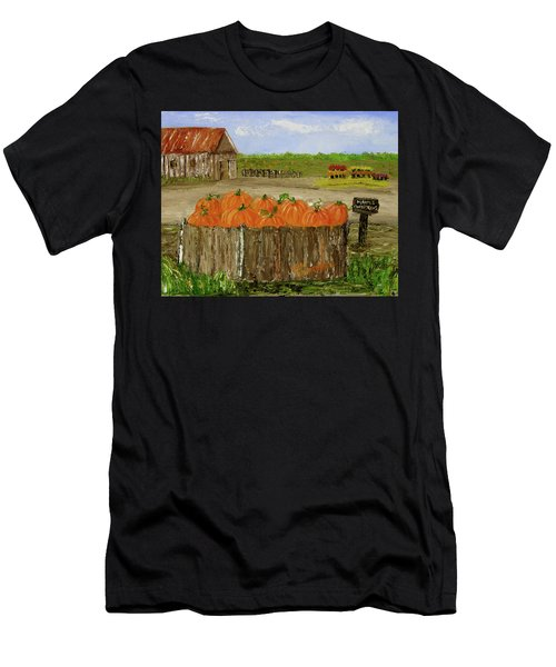 Mum And Pumpkin Harvest Men's T-Shirt (Athletic Fit)