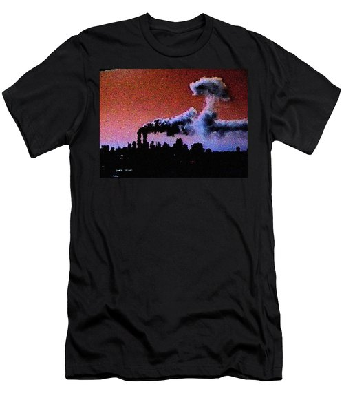 Mushroom Cloud From Flight 175 Men's T-Shirt (Athletic Fit)
