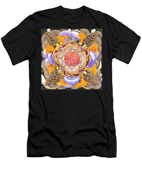 Mushroom Mandala Men's T-Shirt (Athletic Fit)