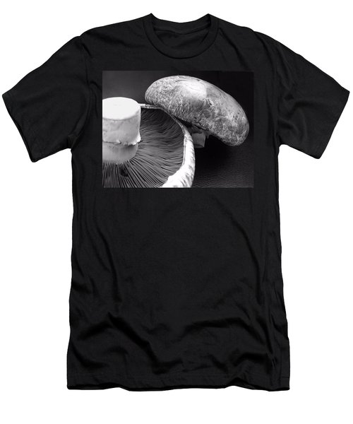 Mushrooms In Black And White Men's T-Shirt (Athletic Fit)