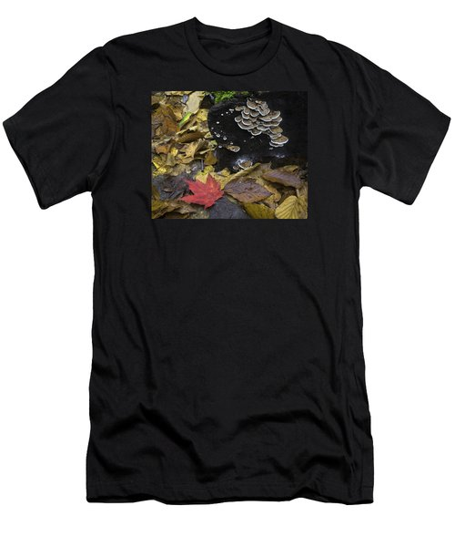 Men's T-Shirt (Athletic Fit) featuring the photograph Mushrooms by Ken Barrett