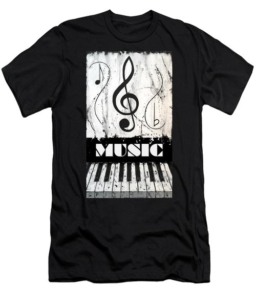 Music 1- Music In Motion Men's T-Shirt (Athletic Fit)