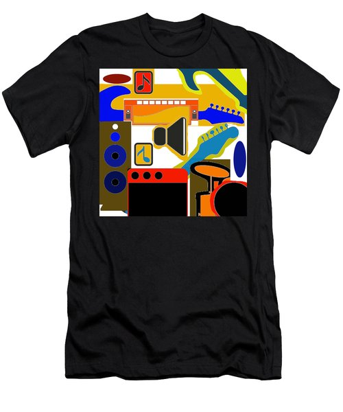 Music Collage Men's T-Shirt (Athletic Fit)