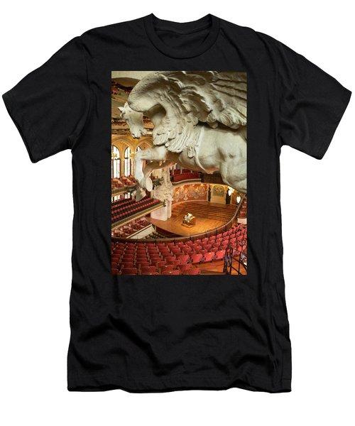Men's T-Shirt (Athletic Fit) featuring the photograph Palau De La Musica Catalana, Barcelona by Frank DiMarco