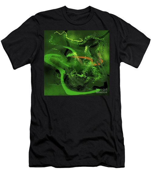 Music In Green Men's T-Shirt (Athletic Fit)