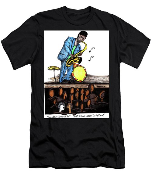 Music Man Cartoon Men's T-Shirt (Athletic Fit)
