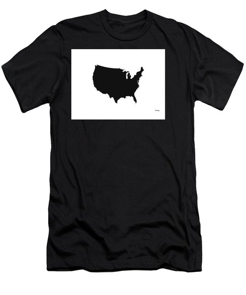 Men's T-Shirt (Slim Fit) featuring the digital art Music Notes 4 by David Bridburg