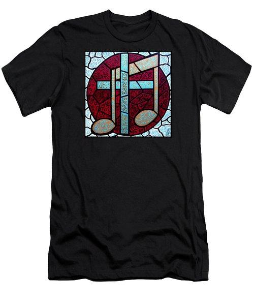Music Of The Cross Men's T-Shirt (Slim Fit) by Jim Harris
