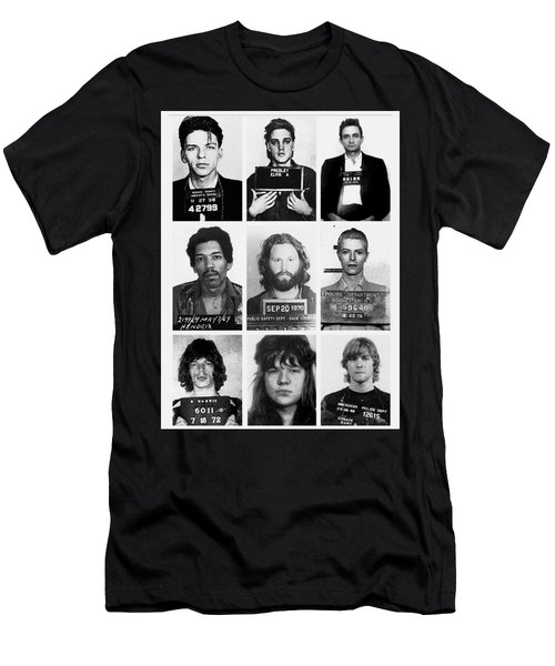 Musical Mug Shots Three Legends Very Large Original Photo 9 Men's T-Shirt (Athletic Fit)