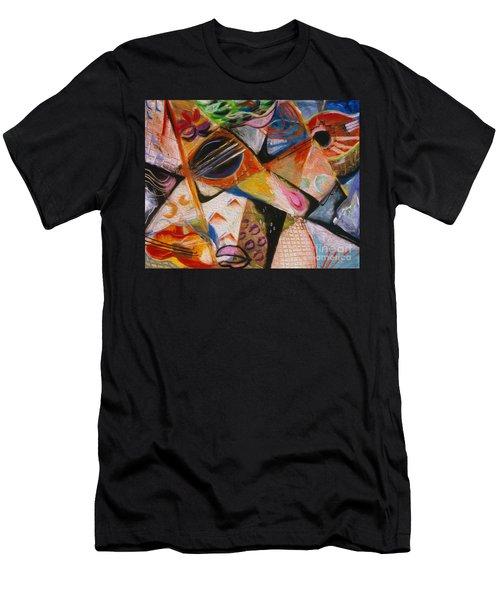 Musical Pastels Men's T-Shirt (Athletic Fit)