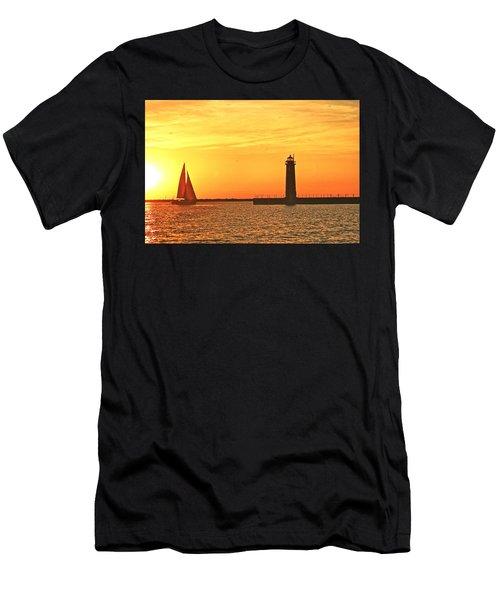 Muskegon Sunset Men's T-Shirt (Athletic Fit)