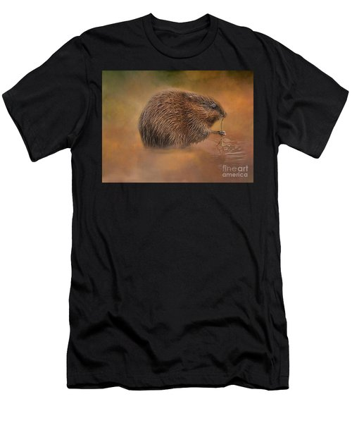 Muskrat Snack Men's T-Shirt (Athletic Fit)