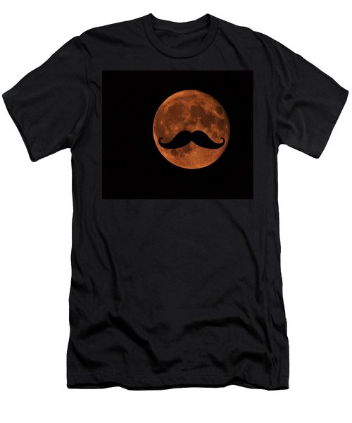 Men's T-Shirt (Athletic Fit) featuring the photograph Mustache Moon by Marianna Mills