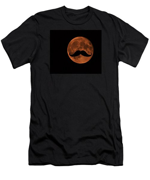 Mustache Moon Men's T-Shirt (Athletic Fit)