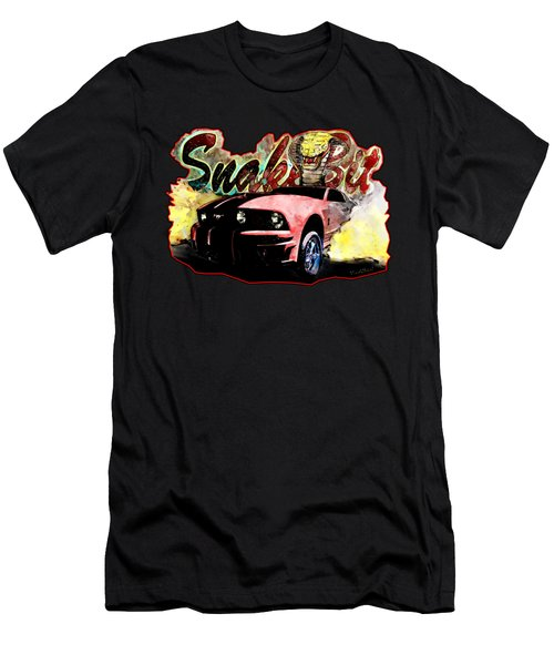 Mustanger Snakebit Burnout Hot Rod Art Men's T-Shirt (Athletic Fit)