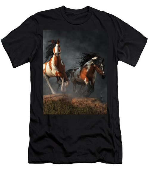 Mustangs Of The Storm Men's T-Shirt (Athletic Fit)