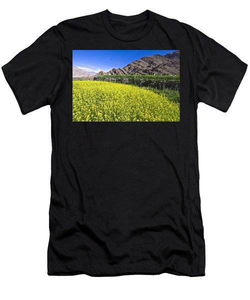 Mustard Field, Hemis, 2007 Men's T-Shirt (Athletic Fit)