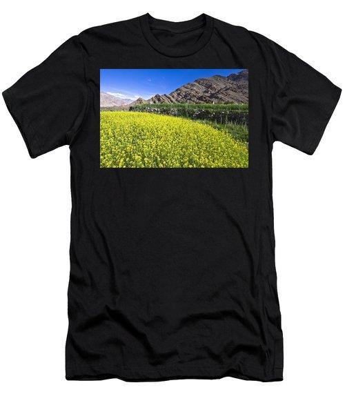 Mustard Field, Hemis, 2007 Men's T-Shirt (Athletic Fit)
