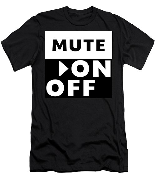 Mute On Off- Art By Linda Woods Men's T-Shirt (Slim Fit) by Linda Woods