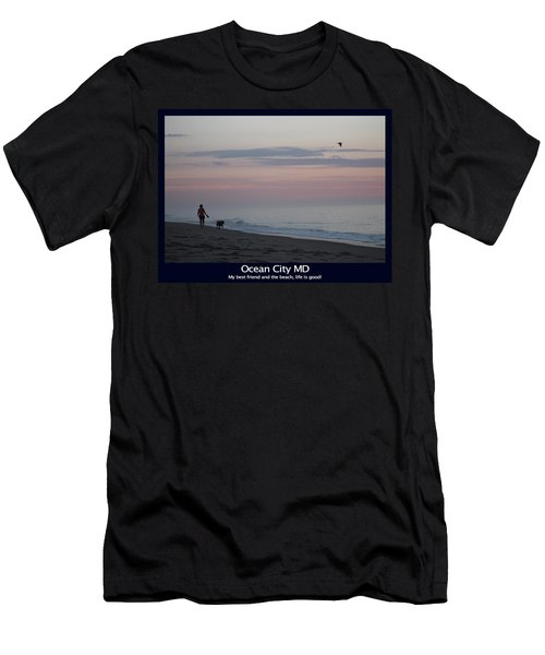 My Best Friend And The Beach Men's T-Shirt (Athletic Fit)