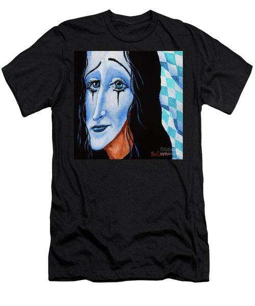 Men's T-Shirt (Slim Fit) featuring the painting My Dearest Friend Pierrot by Igor Postash