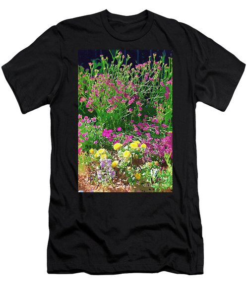 Men's T-Shirt (Slim Fit) featuring the photograph My Garden   by Donna Bentley