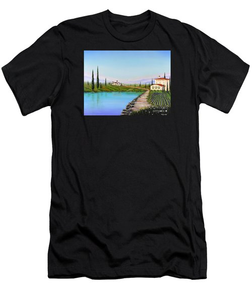 Men's T-Shirt (Athletic Fit) featuring the painting My Garden by Mary Scott
