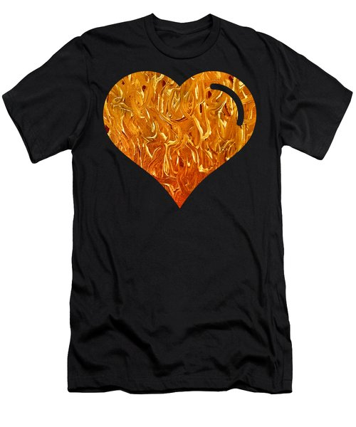My Heart Is On Fire Men's T-Shirt (Athletic Fit)