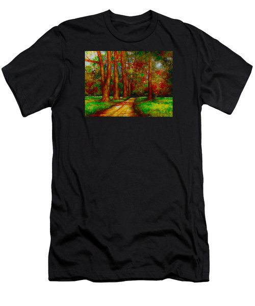 Men's T-Shirt (Slim Fit) featuring the painting My Land by Emery Franklin