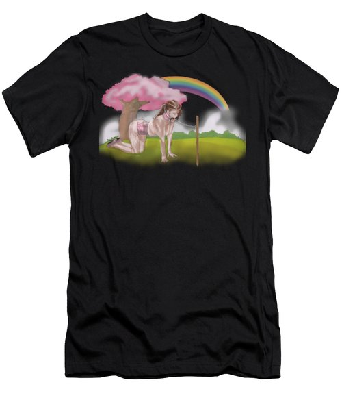 Men's T-Shirt (Athletic Fit) featuring the mixed media My Little Pony by TortureLord Art
