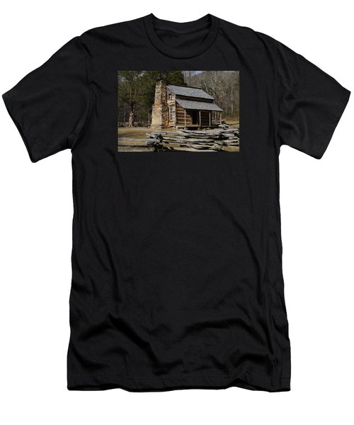 Men's T-Shirt (Slim Fit) featuring the photograph My Mountain Home by B Wayne Mullins